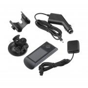 EY Pantalla LCD De 2,7 Pulgadas De Vehículo Coche DVR Grabador De Vídeo HD GPS G-Sensor De Doble Cámara Len-Gris Y Negro