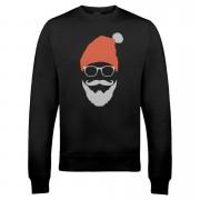 Cool Santa Christmas Sweatshirt - Black - L - Black