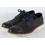 Pantofi bleumarin din piele naturala (cod 15-5942)