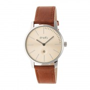 Simplify The 4700 Leather-Band Watch w/Date - Silver/Bronze SIM4704
