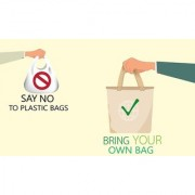 say no to plastic bags sticker poster save environment NO plastic save earth size:12x18 inch multicolor