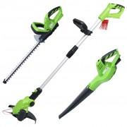 vidaXL Set de unelte electrice fără fir pentru grădină, 3 buc.
