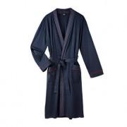 Jado man's home Lieblings-Pyjama No. 28 oder Lieblings-Bademantel, 56/58 - Dunkelblau/Rot - Bademantel