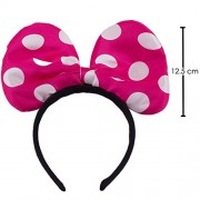 "Minnie Mouse Pink Hair Band ""JUMBO BOW "" for kids for Fancy Dress / Theme party / Cosplay & Costume Party / Birthday Celebrations"