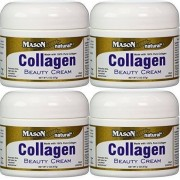 Mason Collagen Beauty Cream Made with 100% Pure Collagen Promotes Tight Skin Enhances Skin Firmness 2 OZ. Jar PACK of 4