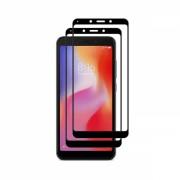Set 2 folii protectie sticla securizata fullsize pentru Xiaomi Redmi 6 / 6A, negru