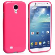 Hot Pink Soft Flexible Gloss Gel Case for Samsung Galaxy S4 Cover