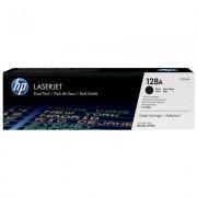 HP 128A svart LaserJet-tonerkassett, original, 2-pack