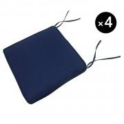 Happy Garden Lot de 4 coussins pour chaise - bleu 40 × 40cm