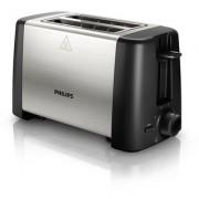 Unboxed Philips HD4825/91 800-Watt 2-Slice Toaster (Black) (1 year Brand Warranty)