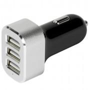 Caricatore Universale da Auto 3p USB 5100 mAh Nero/Silver