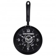 Zegar kuchenny ścienny PATELNIA metalowy do kuchni