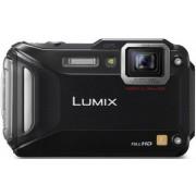 Aparat Foto Digital Panasonic Lumix DMC-FT5, 16.1 MP, Filmare Full HD, 4.6x Zoom Optic, Waterproof, WiFi, NFC (Negru)