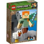 LEGO Minecraft - Minecraft Alex BigFig cu gaina 21149