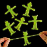 Baker Ross Glow In The Dark Stretchy Aliens - 12 Glowing Stretchy Toys. Stretch Toys For Party Bags. Size 5.5cm.