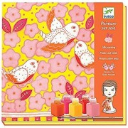 Djeco DJ09853 Silk Painting- Sparrows Playset