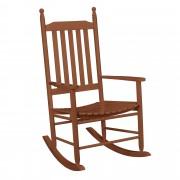 Люлеещ се стол от масивно дърво [casa.pro]® 115 x 62cm , Кафяв