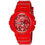 Casio Baby-g Analog-Digital Red Dial Womens Watch-BGA-195M-4ADR (B182)