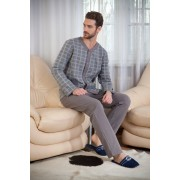 PECHE MONNAIE Комфортная мужская пижама из высококачественного легкого трикотажа PECHE MONNAIE Аtmosphere 9 серый