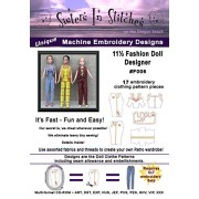 11 1/2 Fashion Doll Designer (Barbie) In The Hoop Machine Embroidery Designs