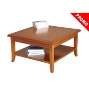 PROMO ! Table de salon carrée en bois 80x80