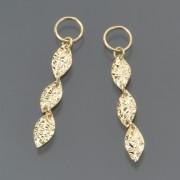 18K カットリーフ デザイン チャーム【QVC】40代・50代レディースファッション