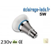 Ampoule led E27 queen 5w SMD blanc naturel 4500K 230v AC ref q001-1