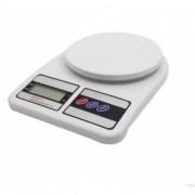 Кухненска електронна везна SAPIR SP 1651 E, LCD екран, 7 кг, Бяла
