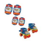 Role copii ajustabile Paw Patrol cu 4 roti si accesorii protectie