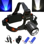 Rechargeable Zoomable Cree Led Headlamp Head Lamp Light Torch Flashlight - 38
