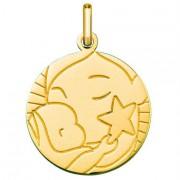 Orféva Médaille l'Enfant à l'étoile (Or Jaune 9K)