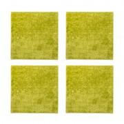 抗菌防臭 吸着シャギーマット 60x60cm 4枚セット【QVC】40代・50代レディースファッション