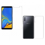 Wondrous Front and Back Impossible Screen Guard For Samsung Galaxy A7 2018 Edition (Triple Camera)