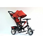 Tricikl Guralica Playtime 411 Simple sa tendom od lanenog platna - Crveni