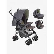 VERTBAUDET Kinderwagen + Babyschale + Babywanne grau/dreiecke