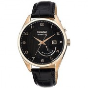 Seiko Dress Analog Black Dial Mens Watch - Srn054P1