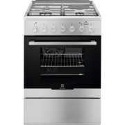 Aragaz mixt Electrolux EKM64900OX, 3 arzatoare gaz + 1 electric, 58 L, Plus Steam, Cuptor electric, 60 cm, Inox