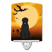 """Caroline's Treasures Caroline 's Treasures Halloween, Negro Ruso Terrier cerámica luz de Noche, 6 x 4"""", Multicolor"""