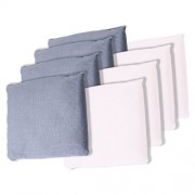 Trademark Games Championship Cornhole Bean Bags (Set of 8), White/Grey
