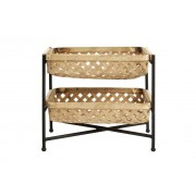 Nordal Curbigny Support with Bamboo baskets and black lacquered iron