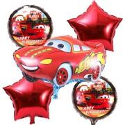 Baloane Cars - Fulger McQueen (set 5 piese)