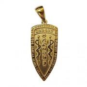 WonderWorld Talisman Scouring Shield of the Caduceus Gold Plated