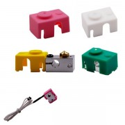 Aluminum Green/Pink/Yellow/White Silicone Case For V6 PT100 Aluminum Block 3D Printer Part Hot End