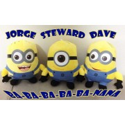 Dave, Stuart and Jorge Minion Plush Soft Toy - Pack of 3