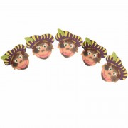 Shoppartners Sinterklaas versiering pieten slinger met paarse baretten Multi