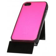 Розов силиконов калъф за Apple iPhone 4S Имитиращ Кожа