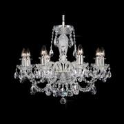 Lustra 8 brate cristal Bohemia, silver