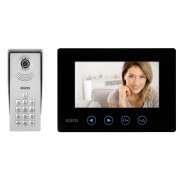 """Videosprechanlage Eura-Tech Tytan VDP-12A3 7"""" schwarz LCD Farbmonitor Steuerung von zwei Eingängen Bilderspeicher"""