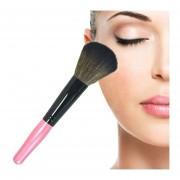5 PC Mango De Madera Suave Cabeza Buffer Foundation Powder Blush Brush Makeup Tools (rosa)