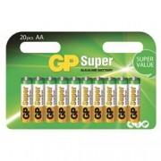 Gp Batteries Blister 20 Batterie AA Stilo GP Super